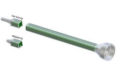MCQ Bell inlet style mengbuis, mengbuizen, static mixer of lijmnozzle