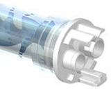 Mengbuis, Mengbuizen, static mixer of Lijmnozzle voor metermix machines - achterkant