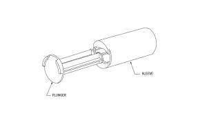Conversion kit to 310ml caulking gun